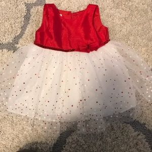 Other - Red and white holiday/flower girl dress